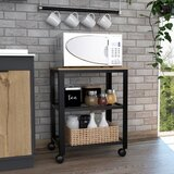 Nathalia Kitchen Cart with Manufactured Wood Top by Union Rustic