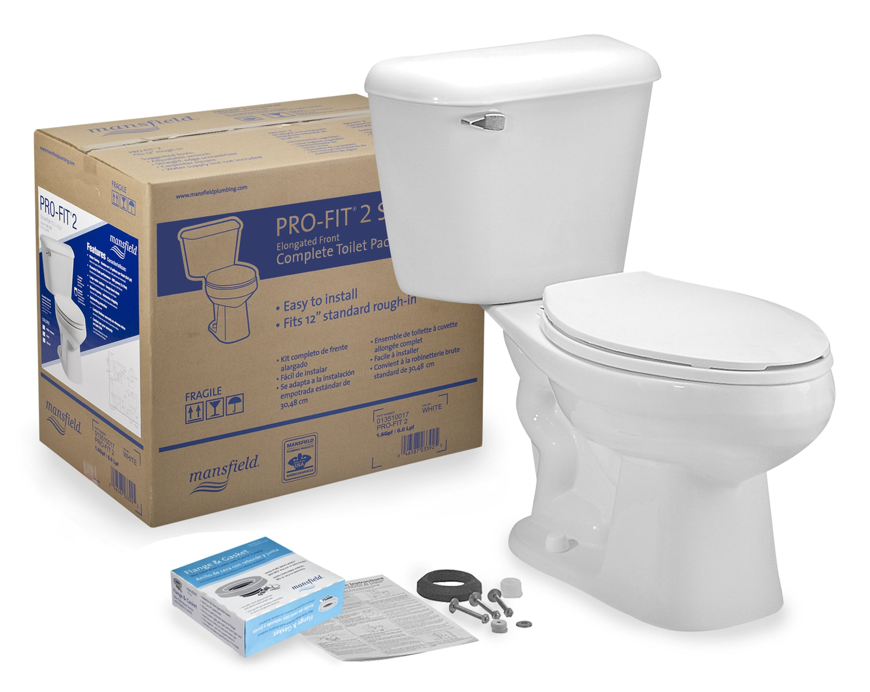 Super Pro Fit 2 1 6 Gpf Elongated Two Piece Toilet Seat Not Included Machost Co Dining Chair Design Ideas Machostcouk