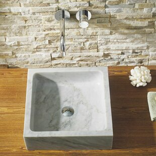 Virtu USA Mya Stone Square Vessel Bathroom Sink