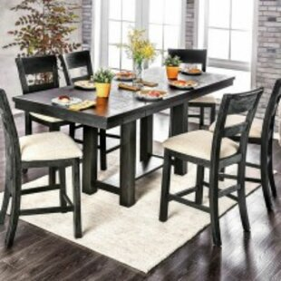Shaver 7 Piece Counter Height Solid Wood Dining Set