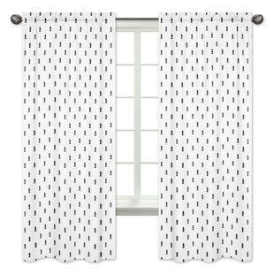 Bear Mountain Wildlife Rod Pocket Window Curtain Panels Set Of 2