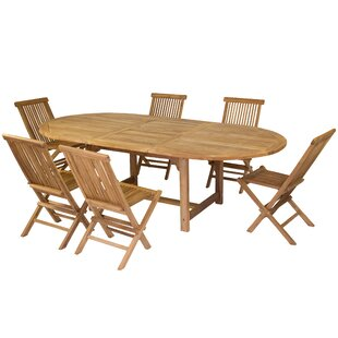 Extendable Dining Table And 6 Chairs By Bay Isle Home