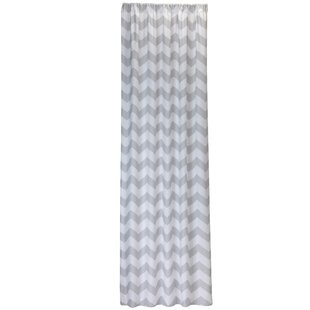 Leibowitz Chevron Single Curtain Panel by Harriet Bee