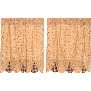Caudell Lined Cafe Curtain Set Of 2
