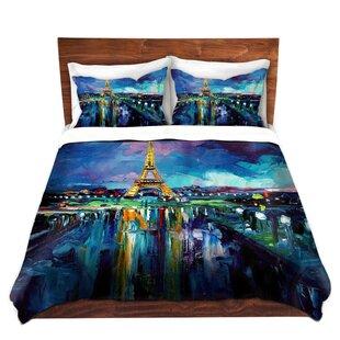 DiaNoche Designs Parisian Night Eiffel Tower Duvet Set