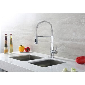 Single Handle Deck Mounted Standard Kitchen Sink Faucet With Pull Down Spray