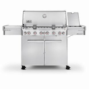 Summit S-670 6-Burner Propane Gas Grill with Smoker by Weber