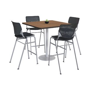 Lundell Bistro 5 Piece Pub Table Set Latitude Run