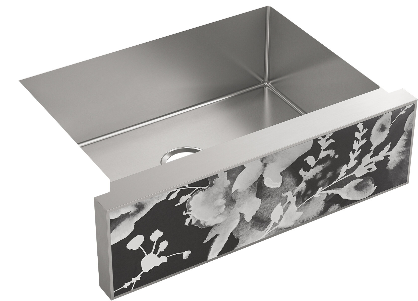 Kohler Tailor Medium Single Basin Stainless Steel Sink With Large Flora Insert Wayfair