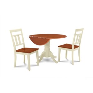 Chesterton Transitional 3 Piece Wood Dining Set ..