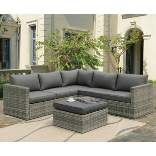 Outdoor sectional Clearance Lorentzen Patio Sectional With Cushions Wayfair Outdoor Patio Sectional Sofas Wayfair