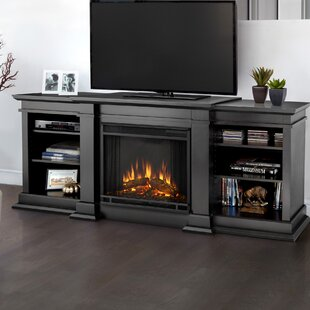 Fresno TV Stand for TVs up to 72 with Fireplace ByReal Flame
