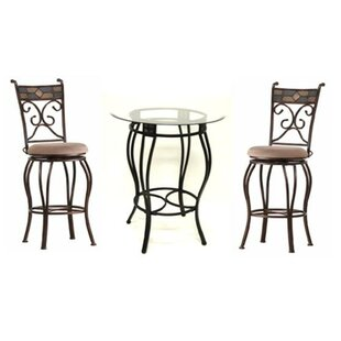 Darby Home Co Silvester 3 Piece Beau Pub Table Set