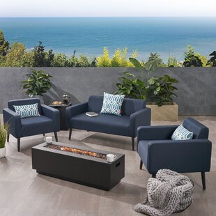 Breckenridge Outdoor 5 Piece Sofa Seating Group with Cushions