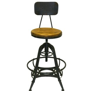 Cindy Adjustable Height Swivel Bar Stool (Set of 2)