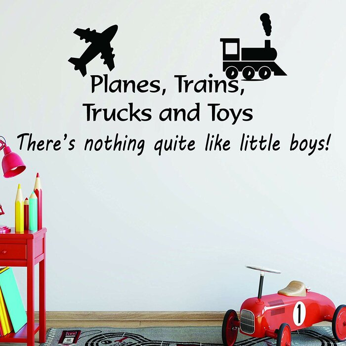 Bixby Planes, Trains, Trucks and Toys Boys Room Wall Decal