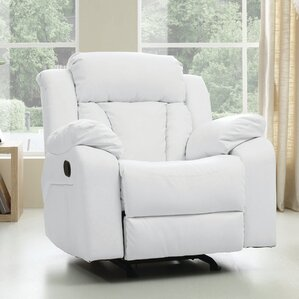 Pavonis Manual Rocker Recliner & White Recliners Youu0027ll Love | Wayfair islam-shia.org