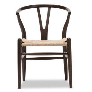 Wholesale Interiors Baxton Studio Chair in Dark Brown Barrel Chair