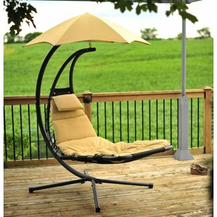 Ebern Designs DiStasio Polyester Hanging Chaise Lounger with Stand