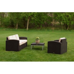 Mira 3 Piece Sunbrella Sofa Set with Cushions