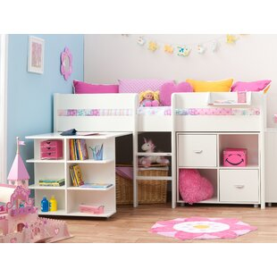 European Single Mid Sleeper Bed With Drawers And Desk By Stompa