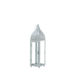 Moroccan Glass/Metal Lantern by Bungalow Rose