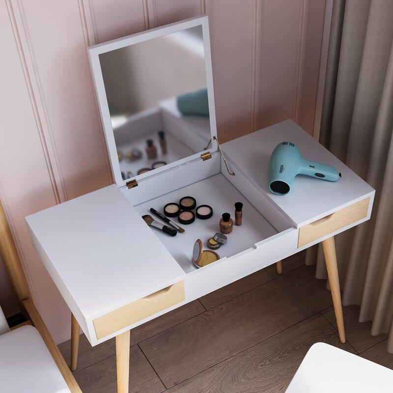 Hashtag Home Rhythm Makeup Vanity With