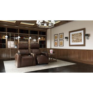 Home Theater Row Seating with Chaise Footrest (Row of 2) by Latitude Run