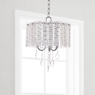 House of Hampton Zeppelin 3-Light Crystal Chandelier