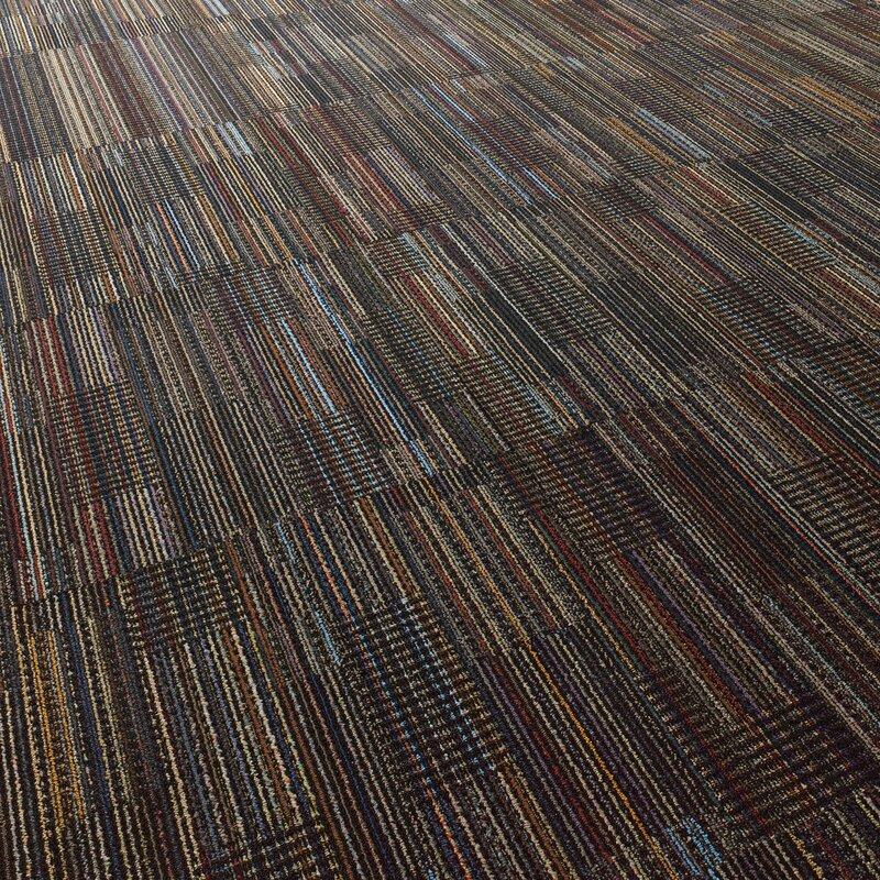 Epsom 24 X Carpet Tile In Black Velvet