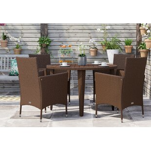 Bjarne 4 Seater Dining Set With Cushions By Hashtag Home