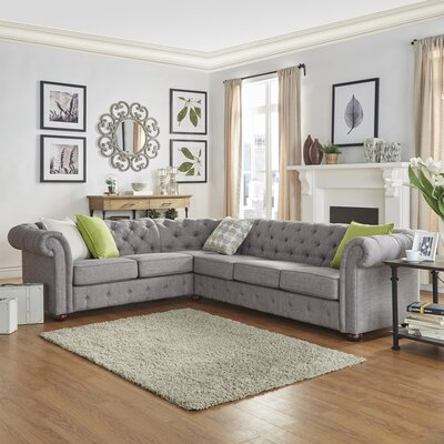 Amazing Three Posts Gowans Sectional Collection Upholstery Color Gamerscity Chair Design For Home Gamerscityorg