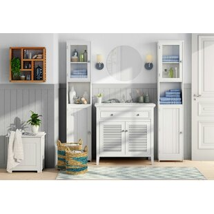 40 X 189cm Free Standing Tall Bathroom Cabinet By Symple Stuff