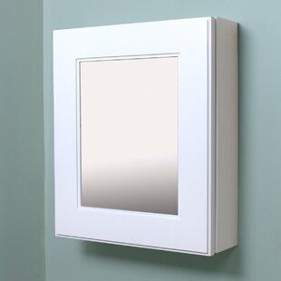 Surface Mount Framed 1 Door Medicine Cabinet with 3 Adjustable Shelves