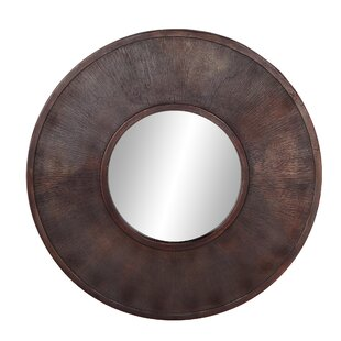 Williston Forge Lagasse Rustic Round Accent Mirror