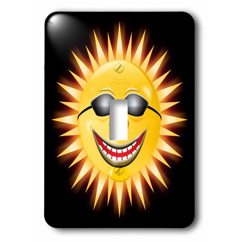 3drose Smiling Sunshine A Happy Sunny Face Wearing Sunglasses With A Smile Single Toggle Light Switch Wayfair