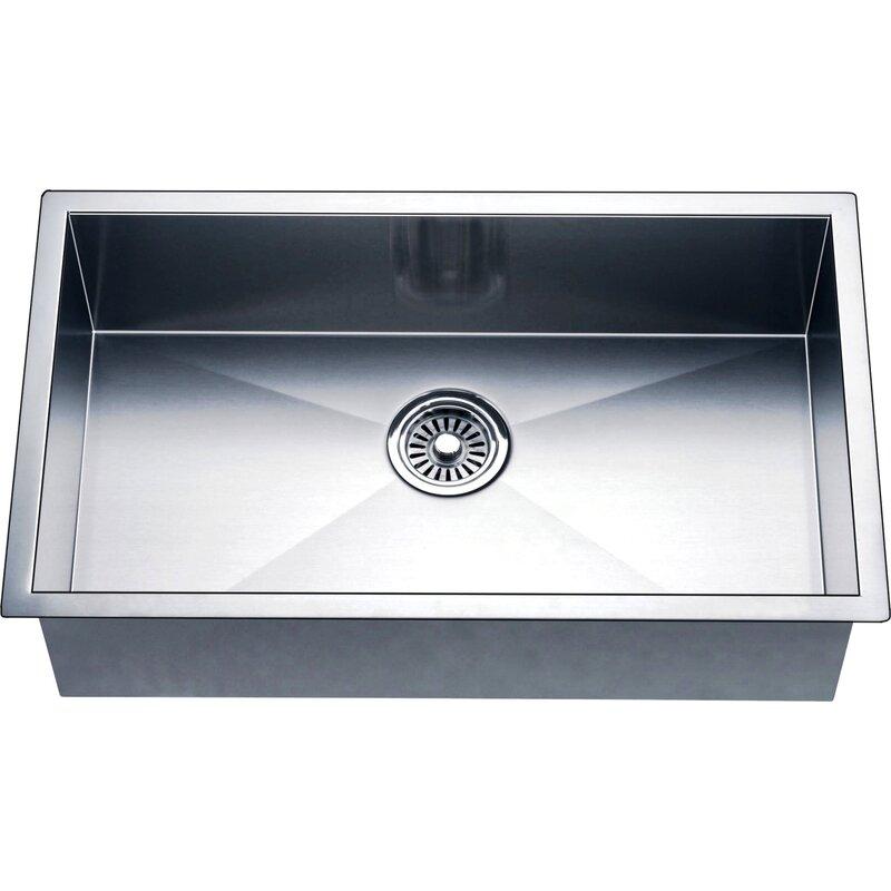 Daweier 33 L X 18 W Undermount Kitchen Sink Reviews Wayfair