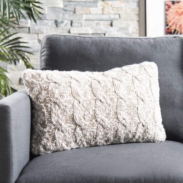 Terrific Chunky Knit Pillow Wayfair Theyellowbook Wood Chair Design Ideas Theyellowbookinfo