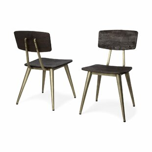 Baeza Solid Wood Dining Chair (Set of 2) Foundry Select