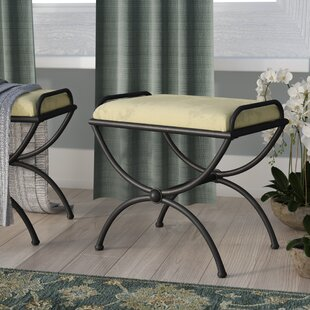 Best Reviews Blomberg Contemporary Iron Vanity Stool By Charlton Home