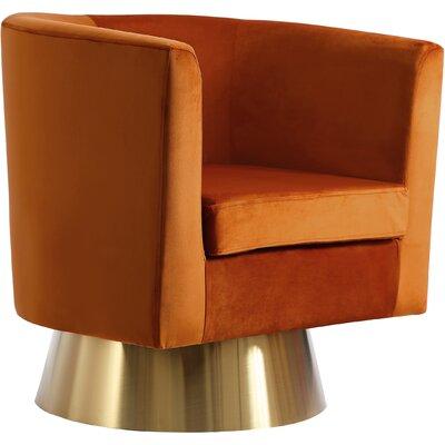 Swivel Barrel Chair Upholstery Color Cognac