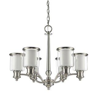 Ebern Designs Mcduffy 6-Light Shaded Chandelier