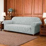 Damask Printed Soft Stretchy Box Cushion XL Sofa Slipcover by Astoria Grand