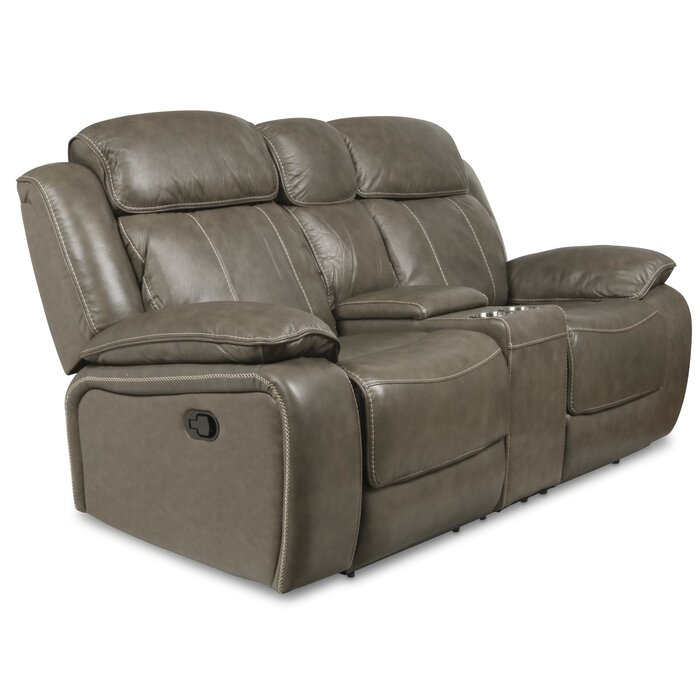 Magnificent Principato Dual Leather Reclining Loveseat Pabps2019 Chair Design Images Pabps2019Com