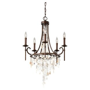 Feiss chandeliers youll love wayfair cascade 5 light candle style chandelier by feiss mozeypictures Image collections