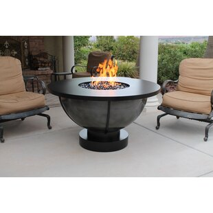 Bodaway Steel Natural Gas Fire Pit Table by CC Products Great Reviews