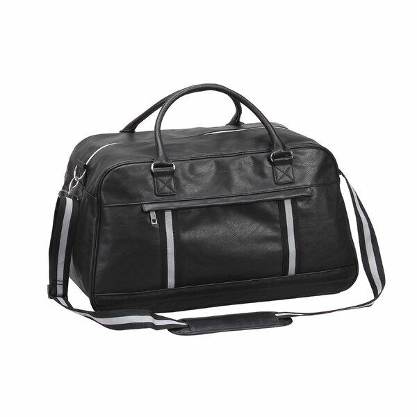 Large Weekender Carry-on Vertical Wavy Leaf Ambesonne Black White Gym Bag