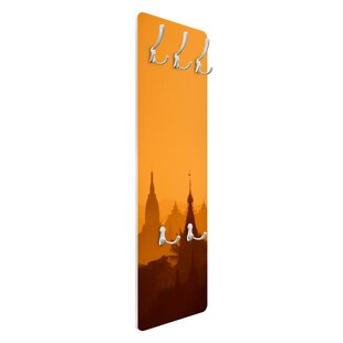 Temple City In Myanmar Wall Mounted Coat Rack By Symple Stuff