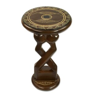 Northwood Entwined Lovers Wood End Table