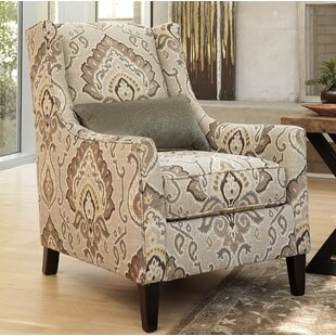 Price Check Trafford Wingback Chair by Darby Home Co Reviews (2019) & Buyer's Guide